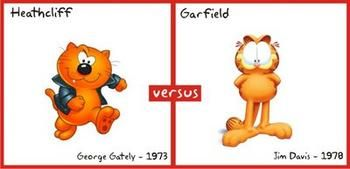 garfield vs heathcliff | Garfield vs Heathcliff: Who would win in a fight?