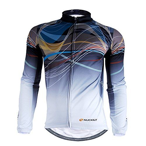 b9a059e9a NUCKILY Mens Cycling Painting Art Long Sleeve Fleece Jersey Large     Read  more at