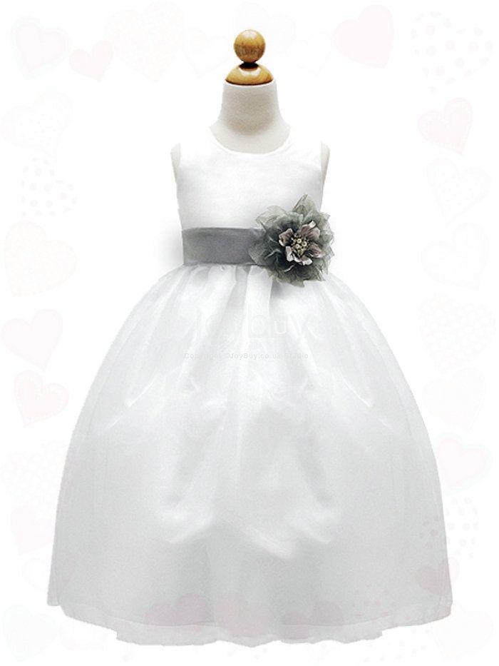 puffy white flower girl dress prices | Flower_Colorful_Sash_Offwhite_Puffy_Flower_Girl_Dresses__1 ...