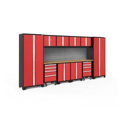 Newage Products Bold 3 0 12 Piece Complete Storage System Newage Products Garage Storage Systems Steel Garage
