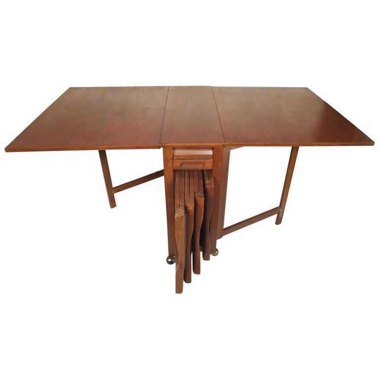Mid Century Modern Drop Leaf Table For Sale With Images Drop