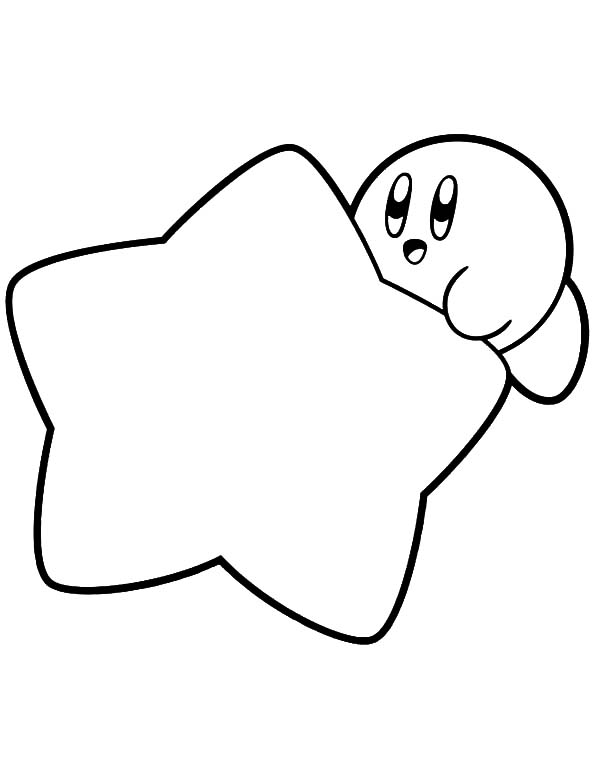 Kirby Hide Behind Star Coloring Pages Kids Play Color Star Coloring Pages Mermaid Coloring Pages Monster Coloring Pages