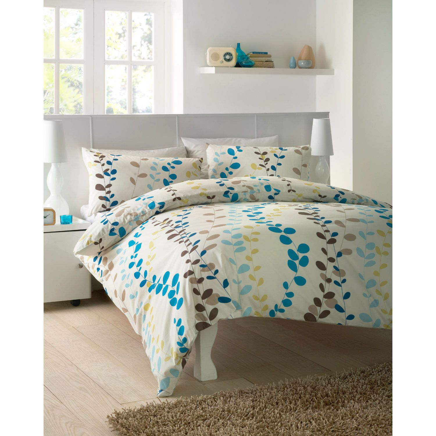 Dreams n Drapes Arcadia Teal Bedding Set – Teal Bedding Set