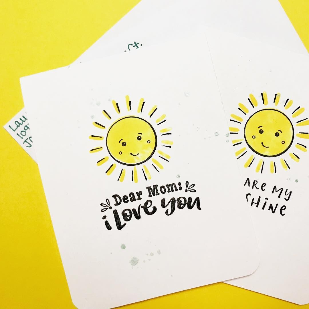 Simple and sweet handmade mothers day cards from fun stampers