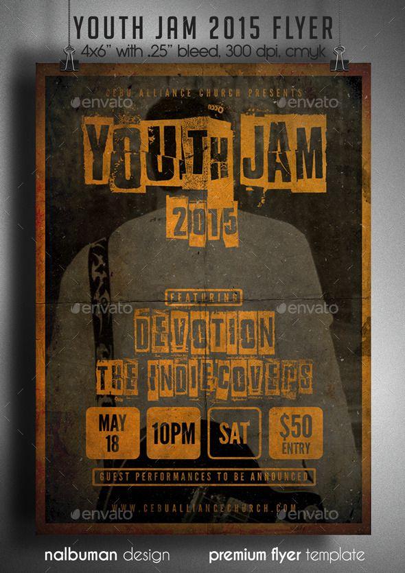 youth jam church flyer