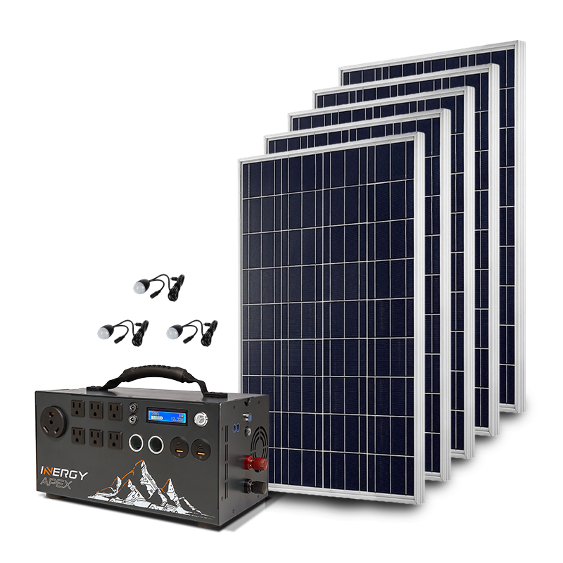 Gold Kit Apex With 5 Solar Storm Solar Panels Inergy Solar Solar Kit Solar Energy Panels Solar Generator