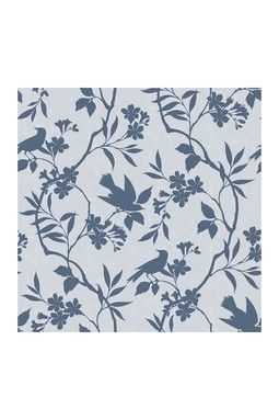 HauteLook | Trendy Peel and Stick Wall Decor: Birds in Trees Removable Wall Decal - Blue