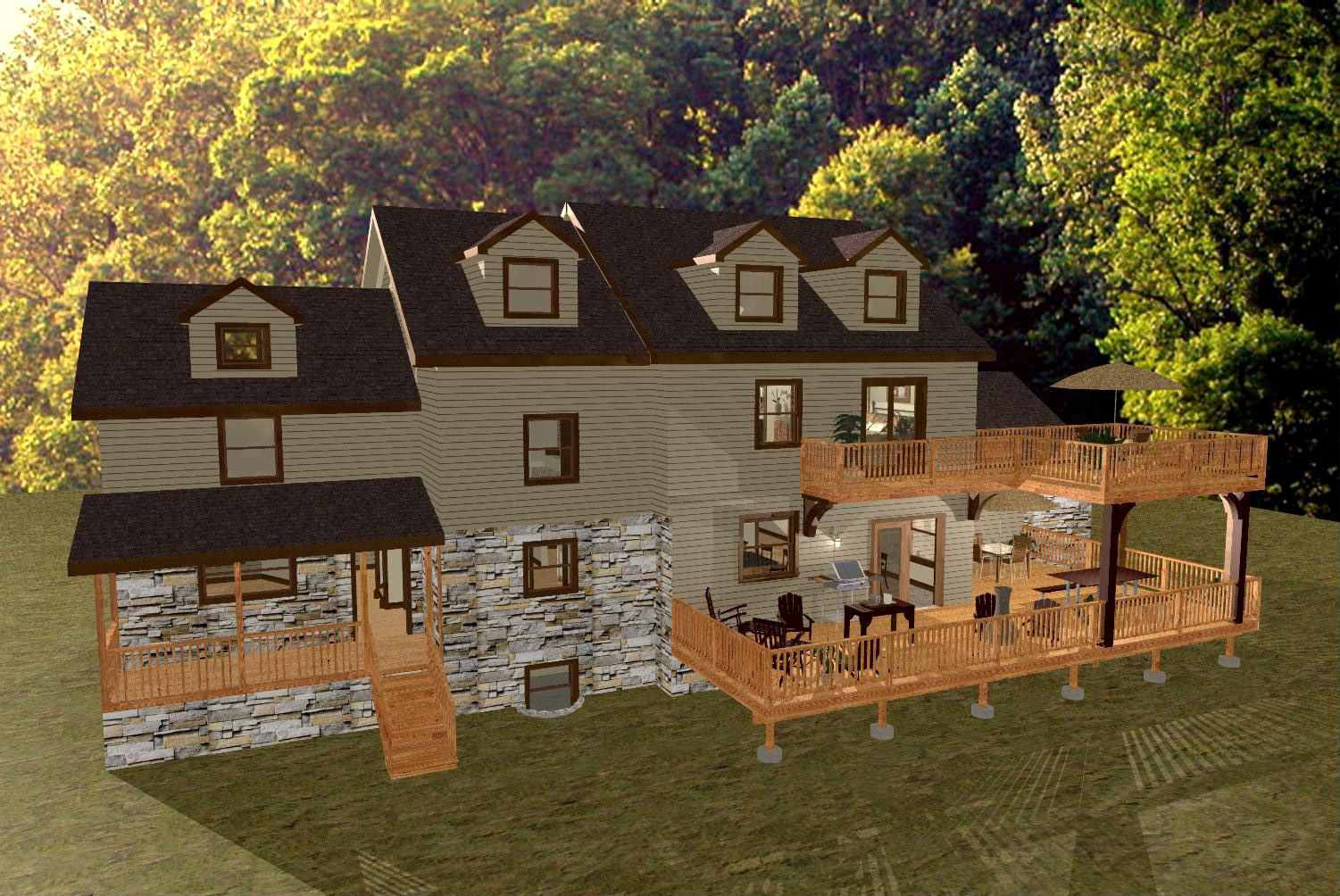 High Quality Outdoor+Deck+Plans+for+two+story+houses | Two Story