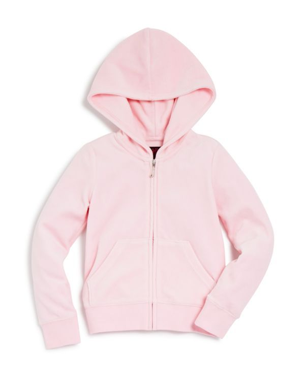 Juicy Couture Girls' Robertson Velour Hoodie, Sizes 2-7 - 100% Bloomingdale's Exclusive