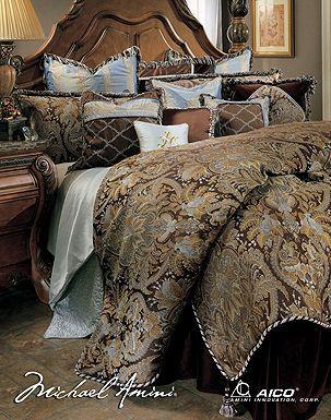 Exceptional Portofino Luxury Bedding Sets Michael Amini Signature Top Of Bed Series: