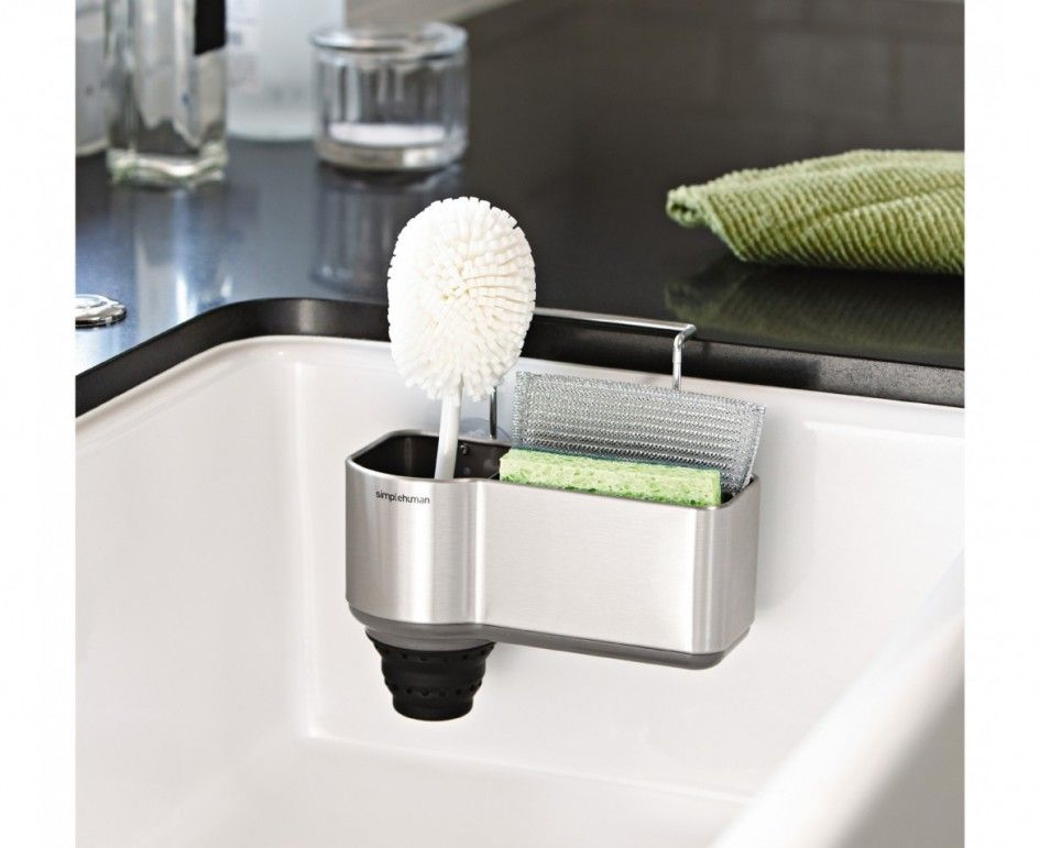good Kitchen Sink Organizers Accessories #2: Tremendous Kitchen Sink Organizers Accessories For Kitchen Cleaning Brush  Set From Simplehuman Kitchen Accessories Products With