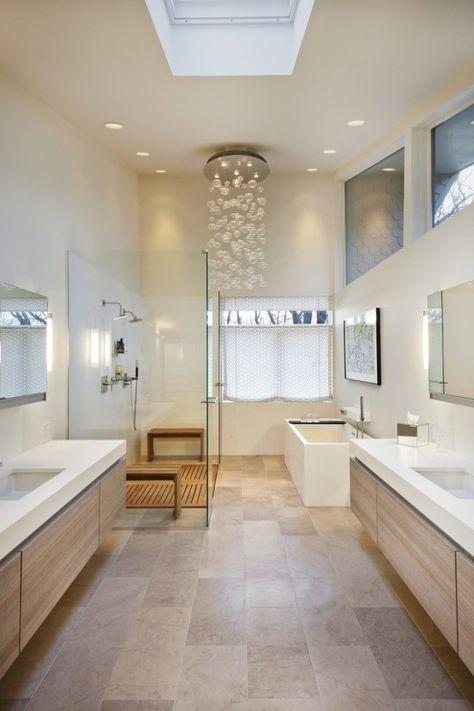 Déco scandinave salle de bains en 32 idées charmantes Ideas para - charmantes appartement design singapur