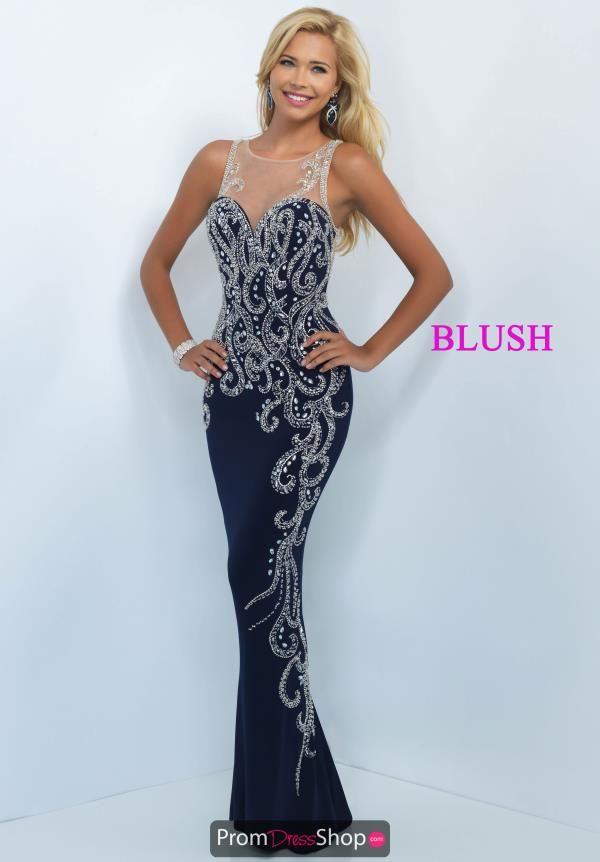 Amazing High Neckline Blush Dress 11040   Blush dresses, Neckline ...