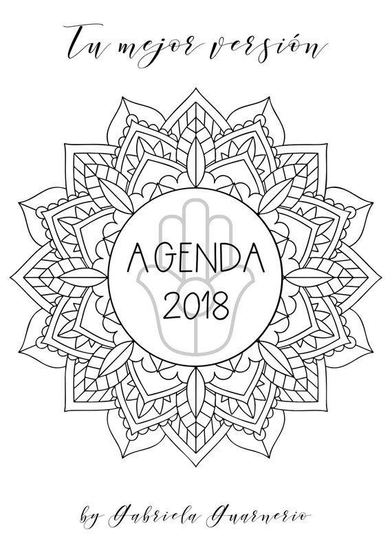 Agenda 2019 con Mandalas para colorear y consignas de journaling ...