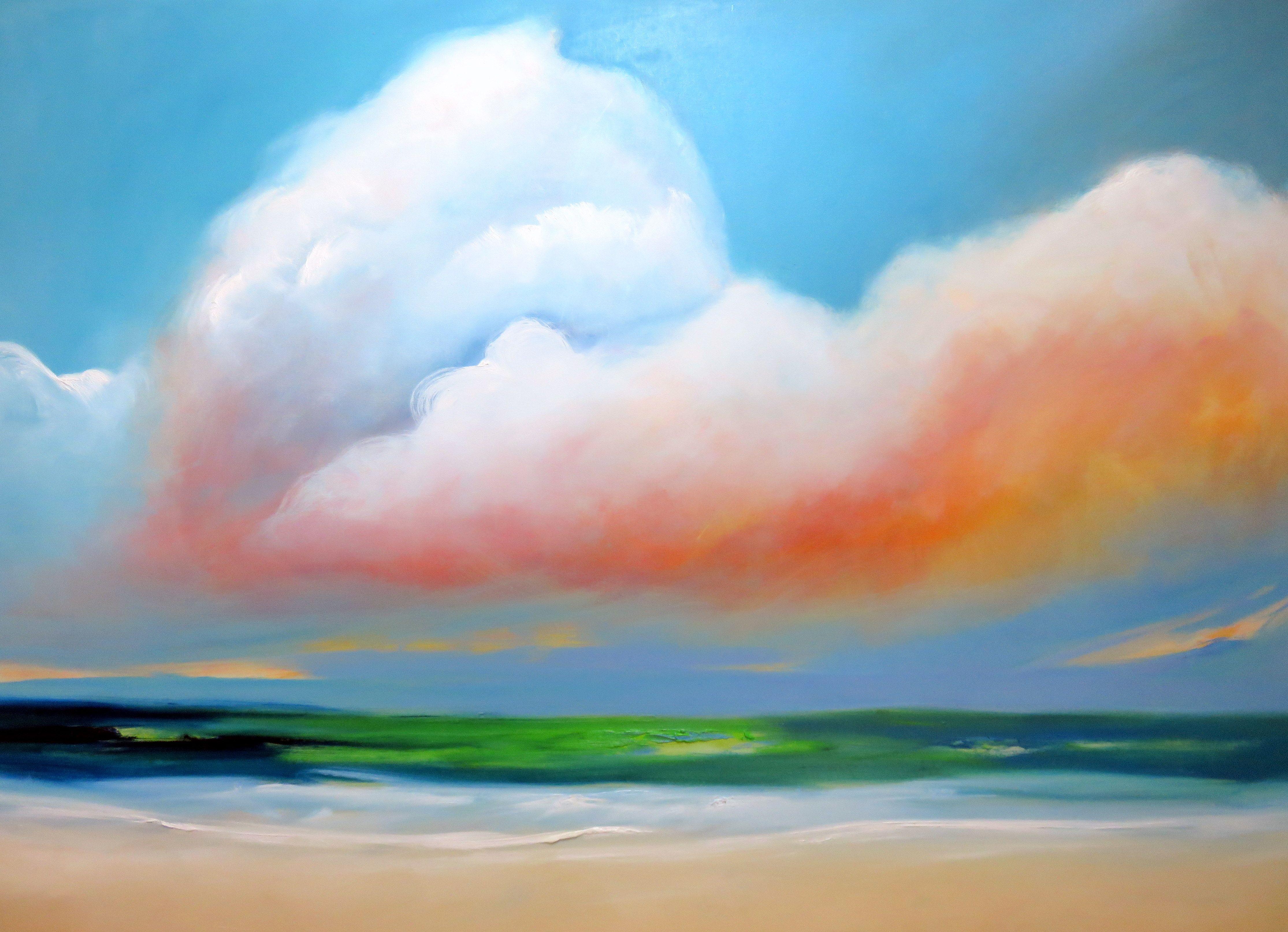 Playa con nubes / óleo sobre lienzo / 170x140 cms