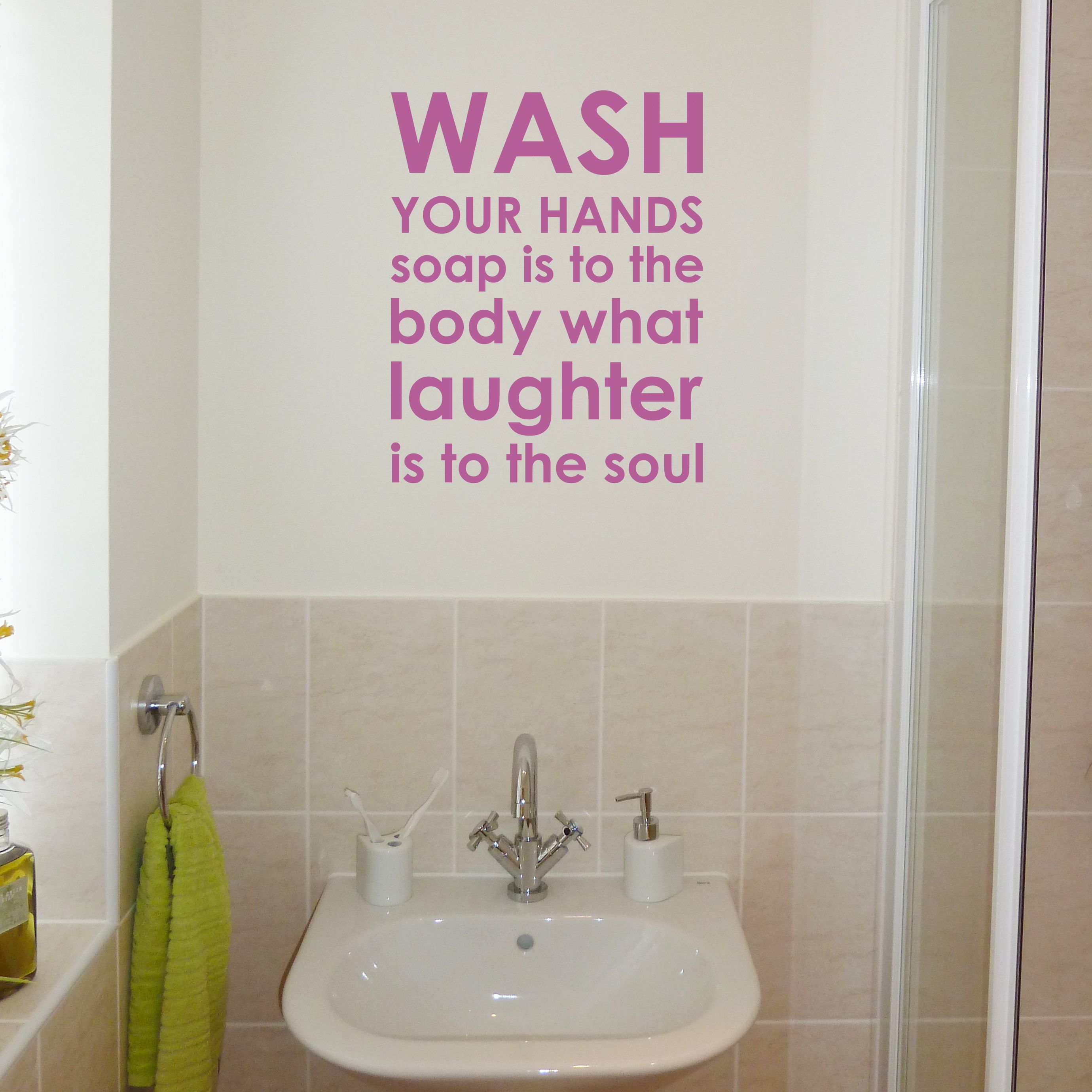 Bathroom Wall Art, Wall Sticker And Bathroom