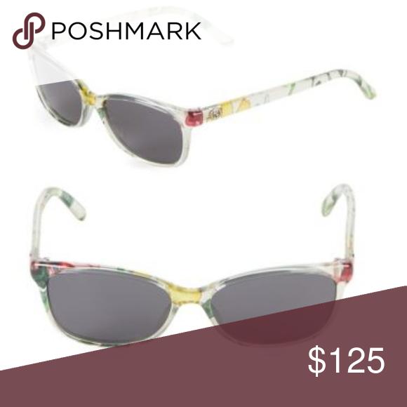 f703e605eb86e NWT GUCCI Clear Floral Sunglasses