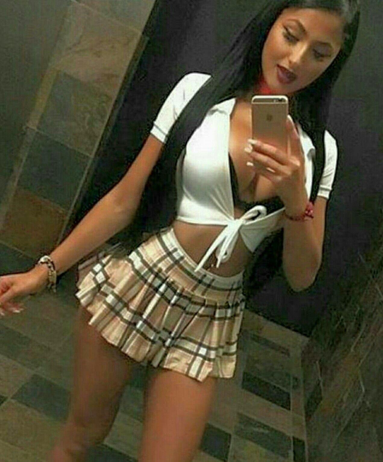 Rascal Pick School Girl Long Black Hair Busty Beauty
