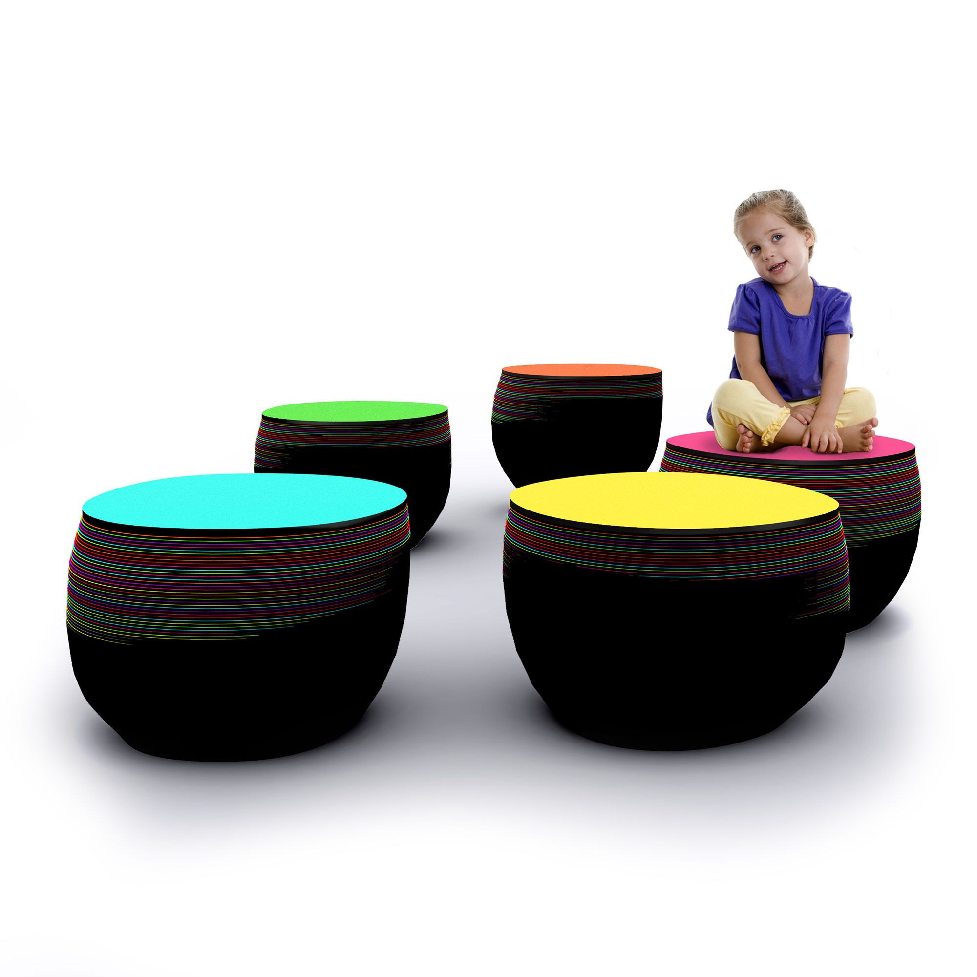 Fig Seating | Rainbow Collection | Yellow Goat Design