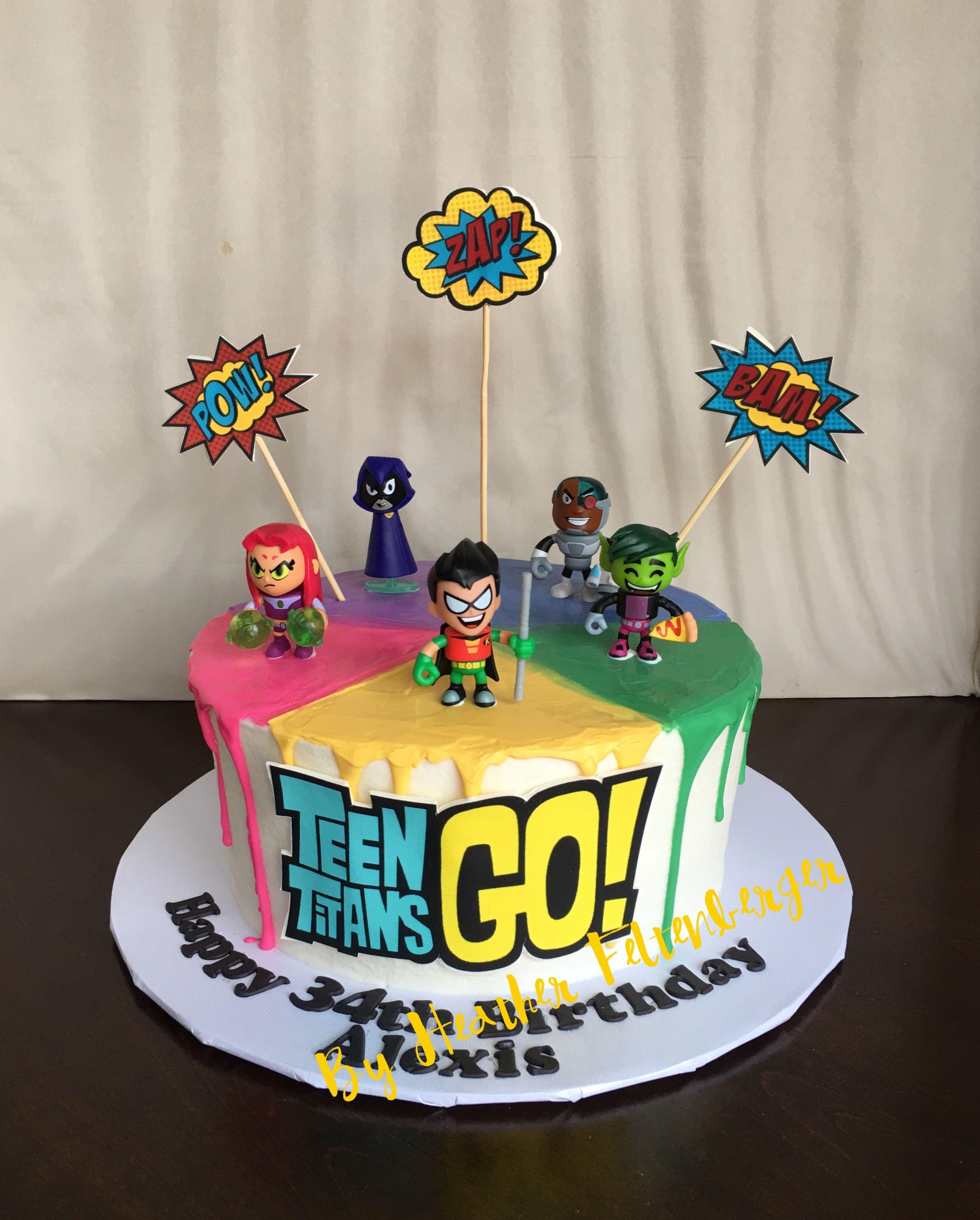 Teen Titans Go! Birthday cake | My Cakes en 2019 | Fiesta niños ...