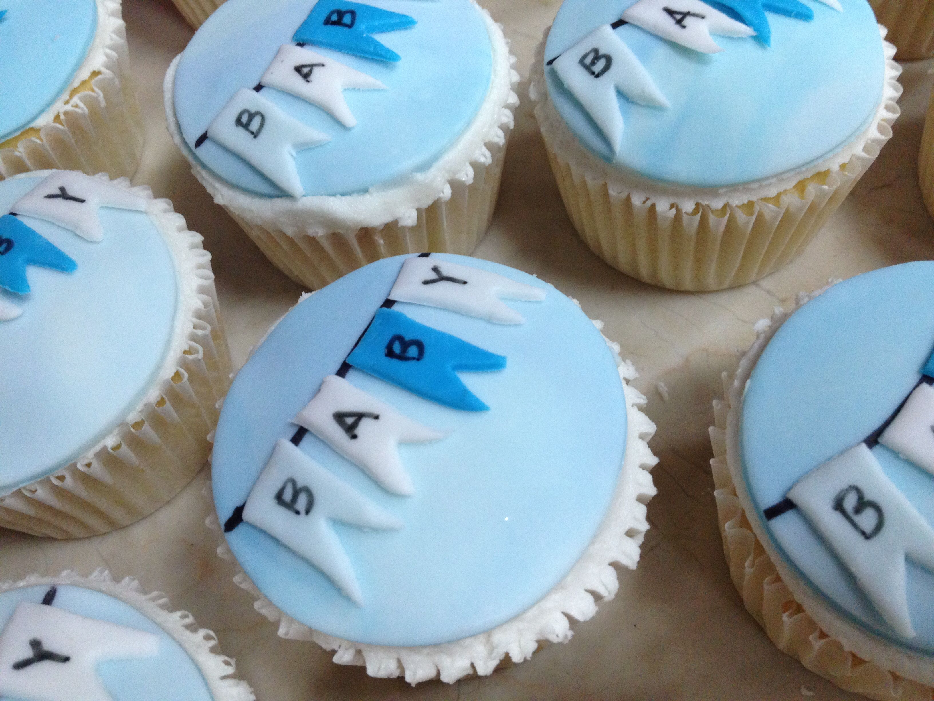 Baby boy shower cupcakes The Pantry Pinterest