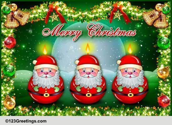 123greetings send an ecard all santa clause pinterest santa santa candles for a bright christmas free online santa candles ecards on christmas m4hsunfo