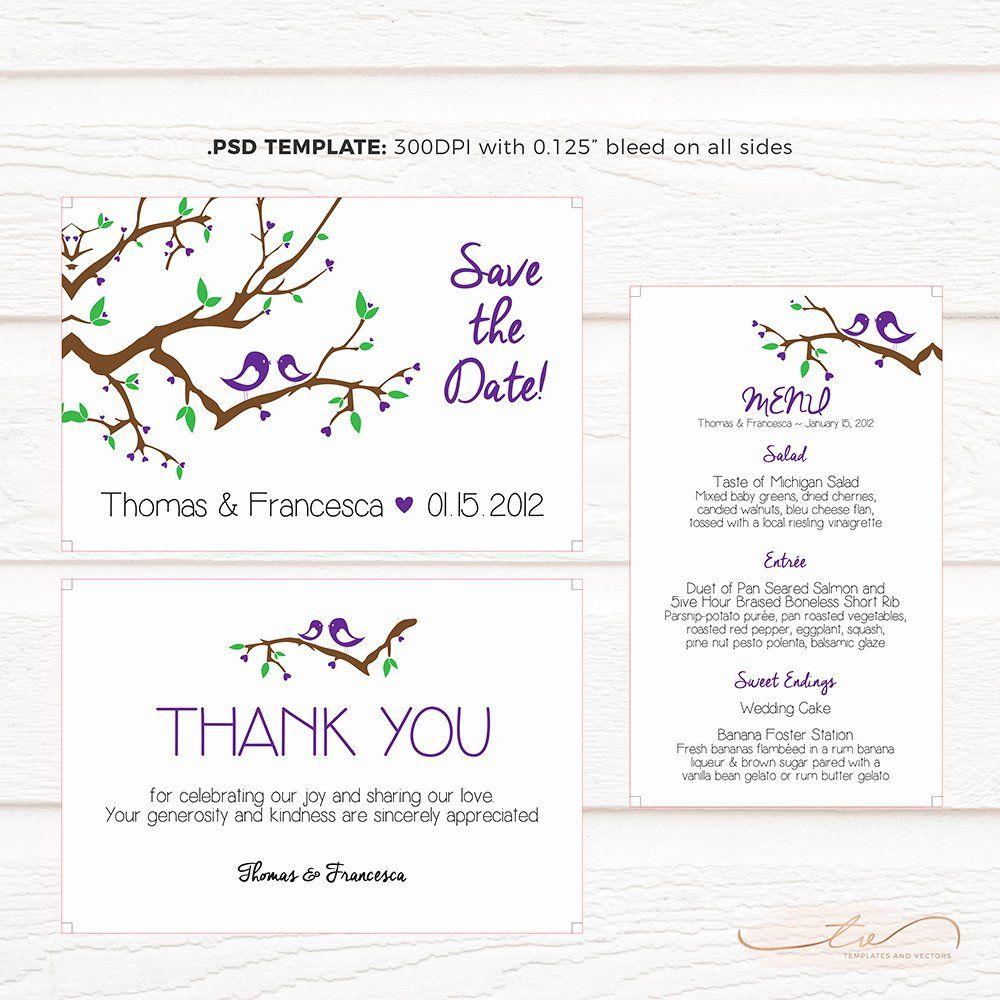 Love Birds Wedding Invitation Template New Tvw5 Love Birds