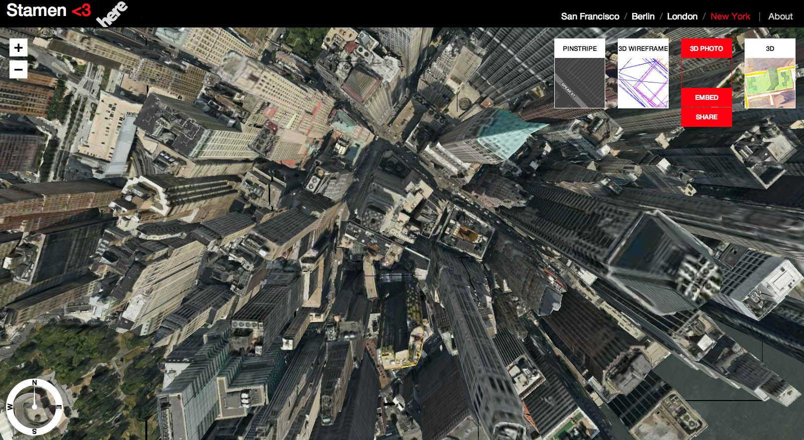 Stamen Design Announcing Herestamencom D Photorealistic And - Nyc map by crime