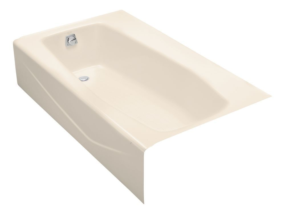 Villager 5 Feet Cast Iron Drop-in Non Whirlpool Bathtub in Almond ...