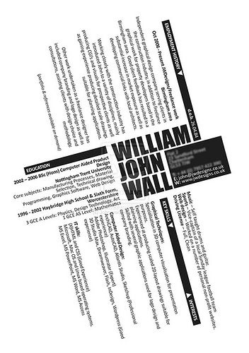 CV_by_Johnnywall Creative cv and Cv ideas - examples of interests