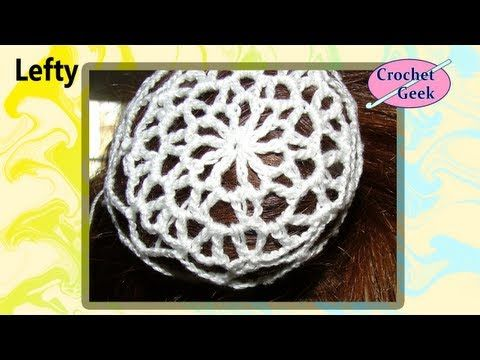 Ulace Snood Crochet Hair Accessory Bun Cover Left Hand Version