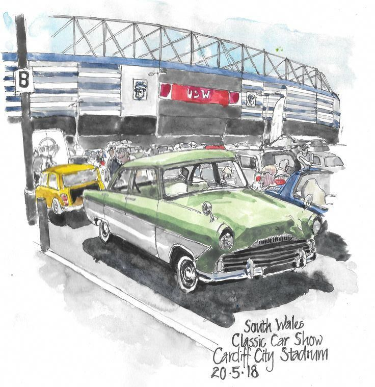 Old Ford Zodiac Cardiff Classic Car Show – #Fordclassiccars
