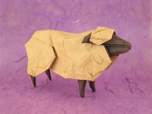 Sheep By Hideo Komatsu Origami Pinterest Origami Goats And