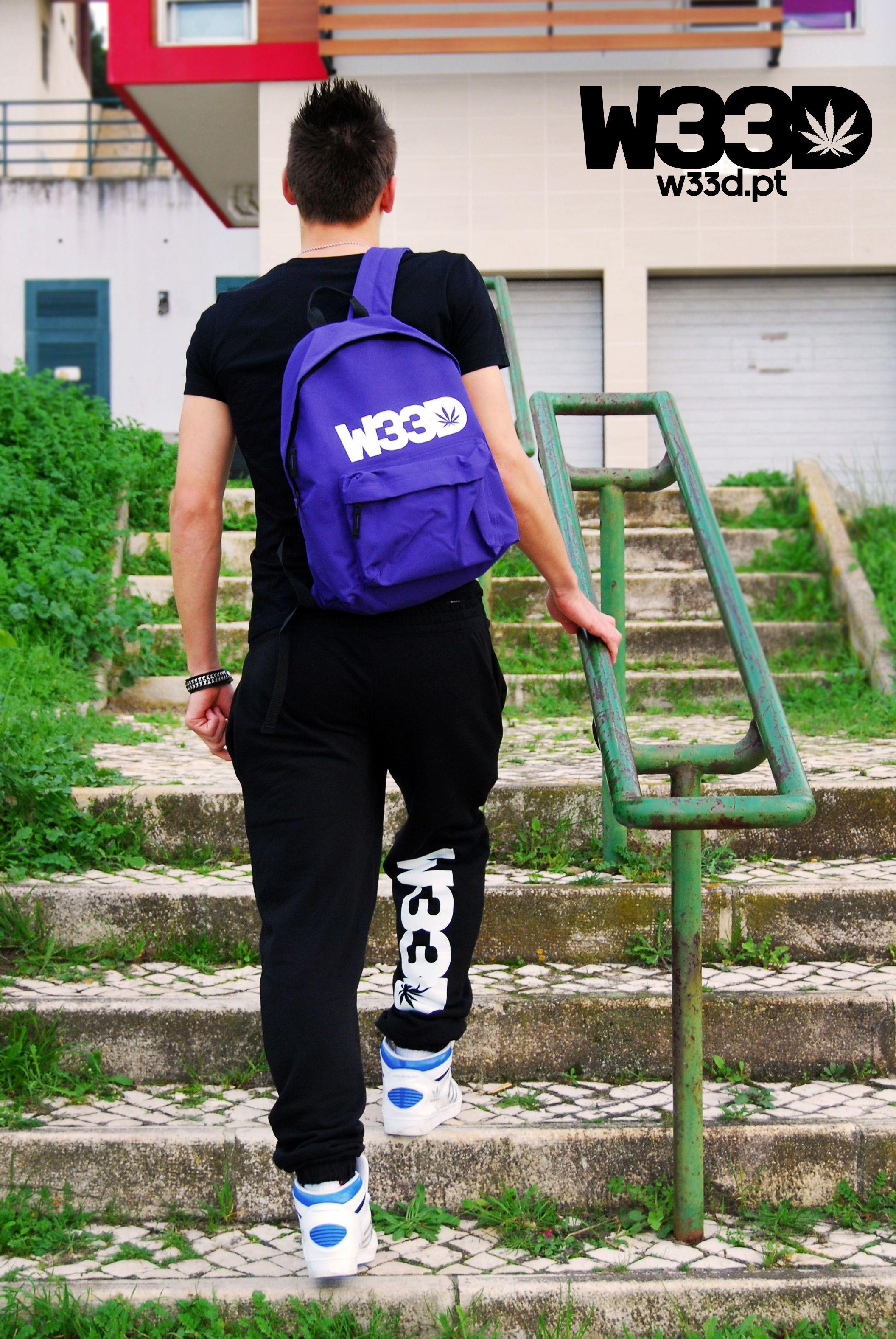 W33D Purple Backpack and Classic W33D Sweatpants #W33D
