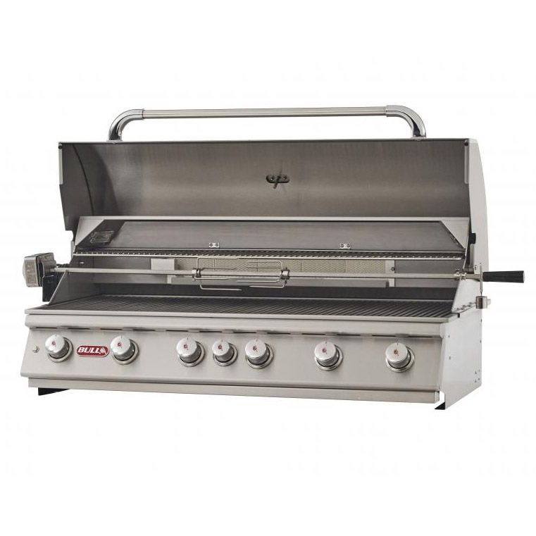 Bull Diablo 46 Inch 6 Burner Built In Natural Gas Grill With Rotisserie 62649 Propane Grill Natural Gas Bbq Grill Grill Accessories