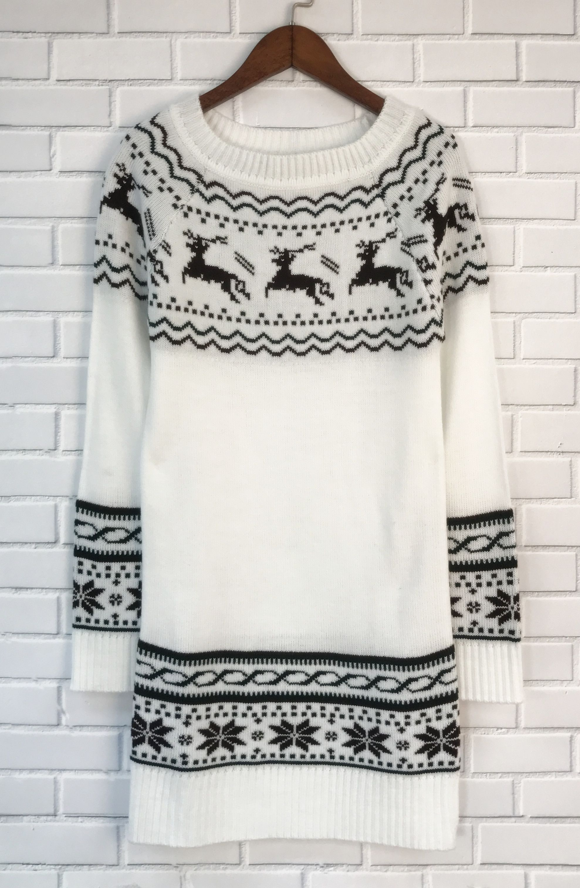 Prepare for christmas a midweight knit sweater featuring a fair