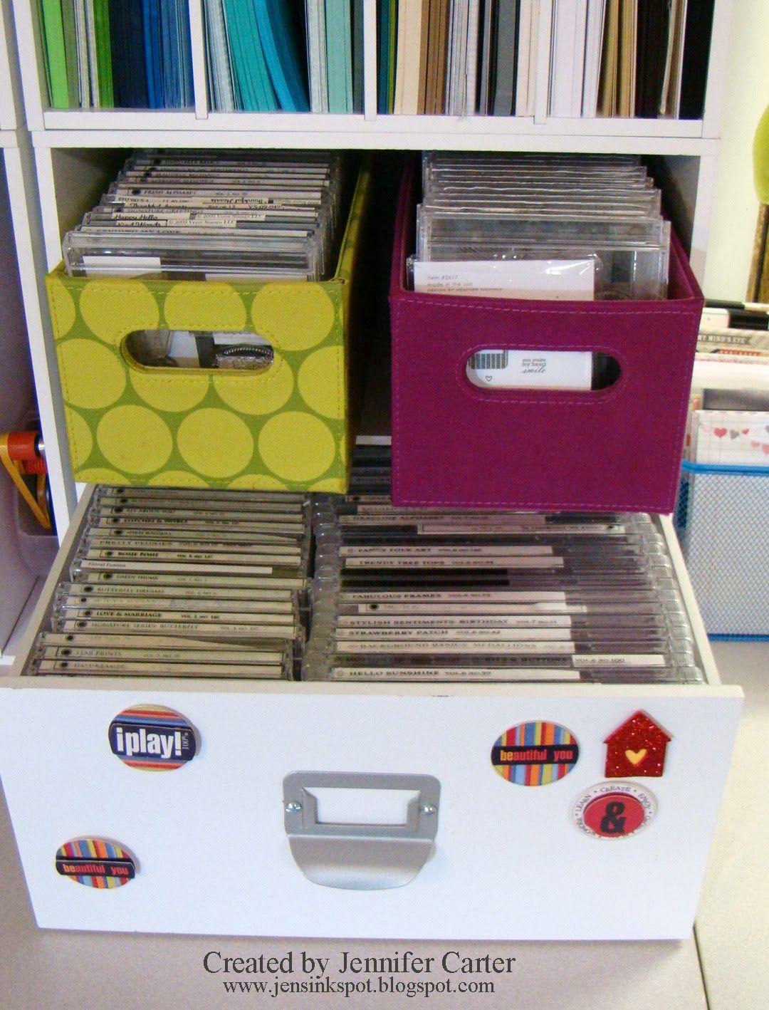 Jenu0027s Ink Spot St& Storage & Easy Valentines u0026 My New Crafty Space   Stamp storage Card ...