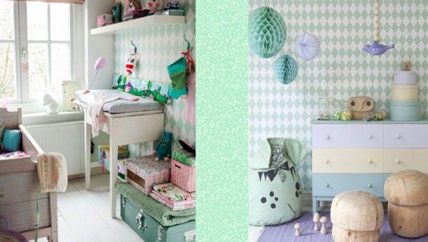 Babykamer Ideeen Behang : Babykamer ideen eenvoudig behang babykamer grijs muursticker