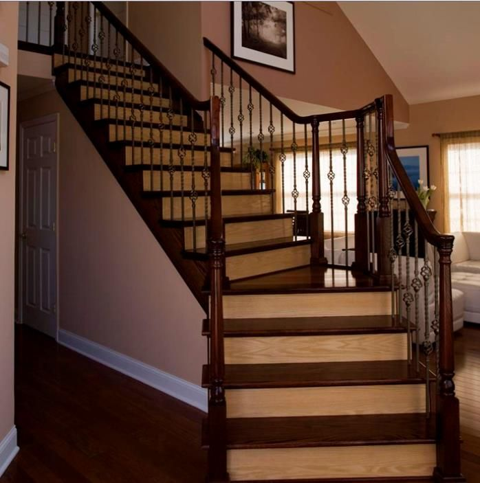 What color to paint stair risers stair tread designs to for Hardwood floors on stairs