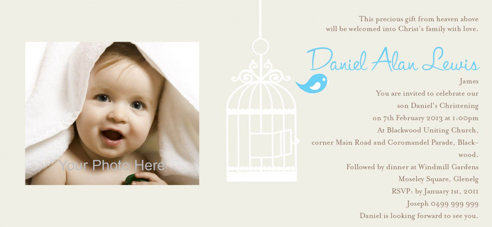 baptism invitation wording sample baptism invitations Pinterest