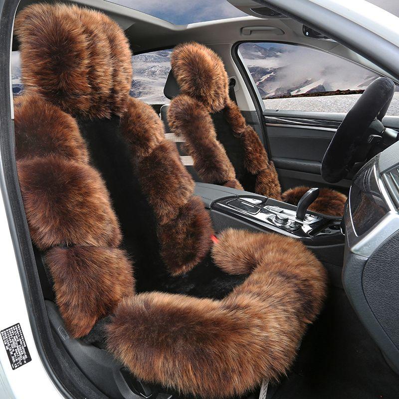 New Arrival Winter Keep Warm Car Seat Cover Cushion Full Sheep Fur