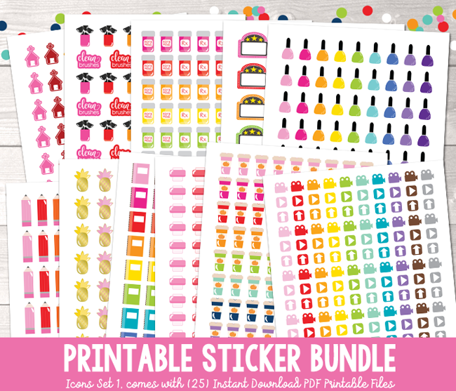 Download Pin On Printable Planner Stickers