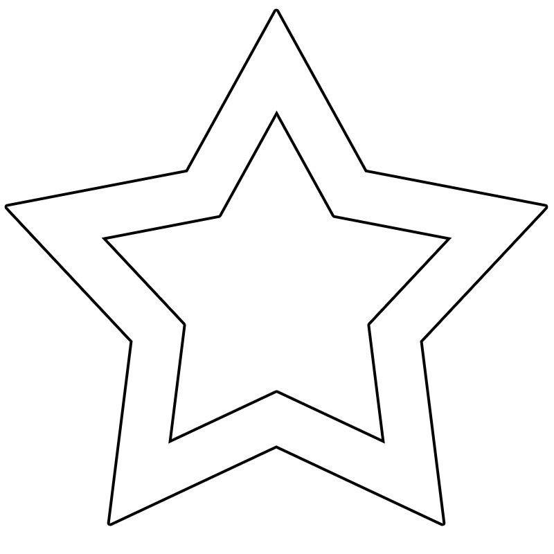 şekiller Yıldız şablonları