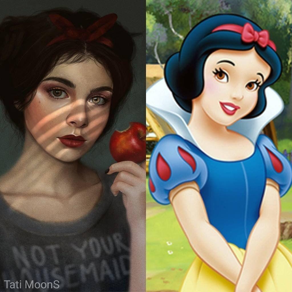 Snow White Realistic Disney Princess Disney Drawings Disney Art