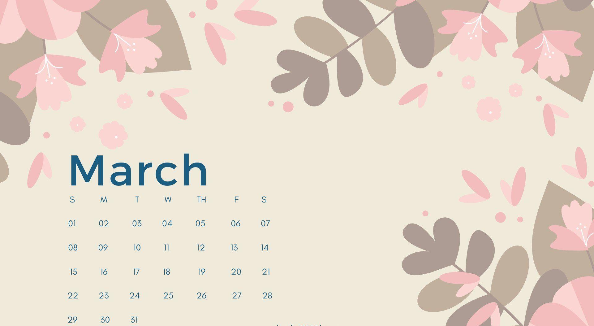 March 2020 Calendar Desktop Wallpaper Calendar Wallpaper Desktop Wallpaper Calendar Calendar Printables