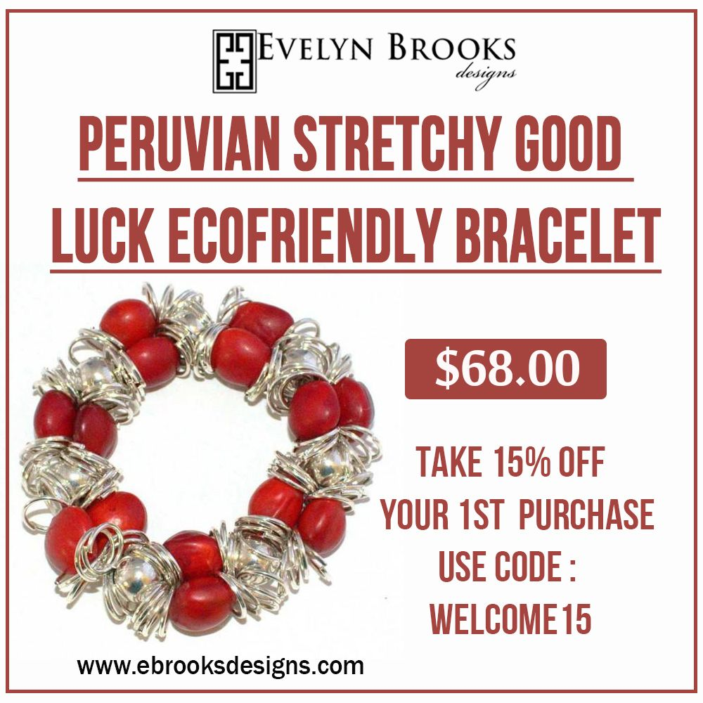 Peruvian Stretchy Good Luck Ecofriendly Bracelet For Women.  #happyshopping #earlychristmas #birthdaygifts  #EthicalFashion #Handmade #sustainablefashion #mompreneur #latinamoms #Peruvianjewelry #myEBDstyle #Evelynbrooksdesigns #ecofriendly #jewelry #peru #Huayruros #ecochic #etsysellers #etsymom #etsymakers #handmadeatamazon