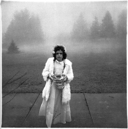 A Flower Girl at a Wedding: Diane Arbus 1964