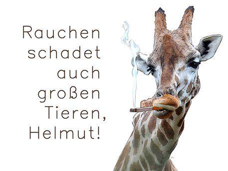 'Große Tiere und das Rauchen ...' von Dirk h. Wendt bei artflakes.com als Poster oder Kunstdruck $19.41