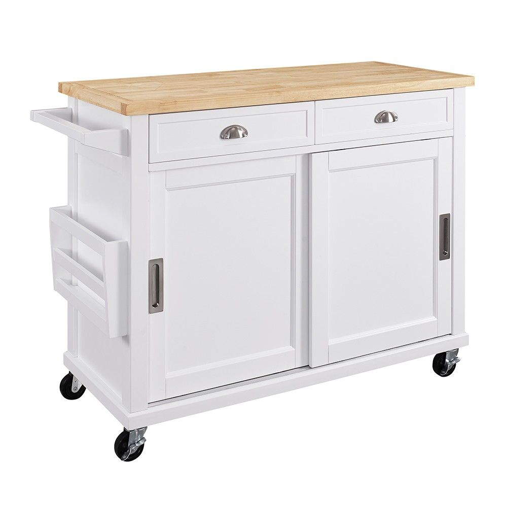White Kitchen Island Cart Maid Mixer Wood Linon Home Decor Products Pinterest