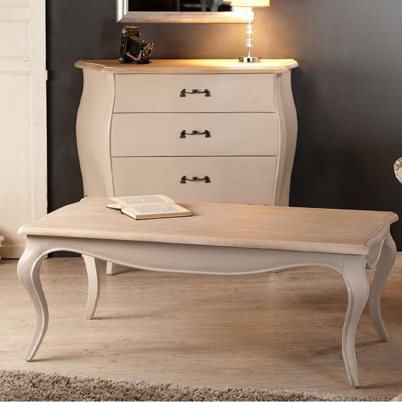 Table Basse Rectangulaire En Bois Coloris Argile Olivia Maison